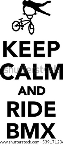 keep calm ride bmx stock vector hd royalty free 539171236 rh shutterstock com