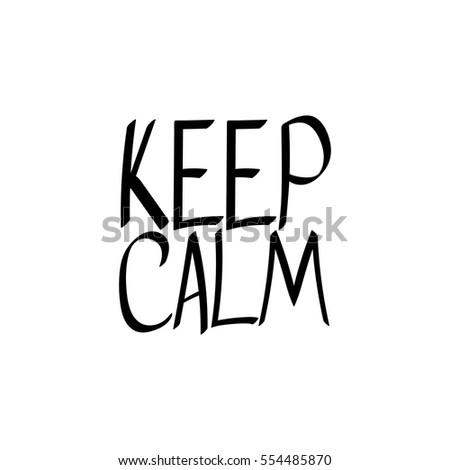 keep calm isolated phrase words design stock vector 554485870 rh shutterstock com