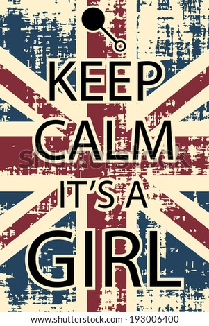 keep calm it's a girl  , illustration vector format