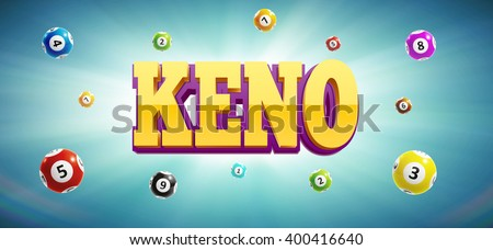 keno lottery balls and place for text - stock vector