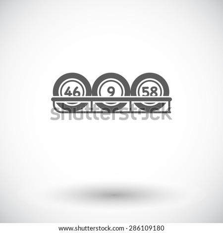 Keno. Single flat icon on white background. Vector illustration. - stock vector