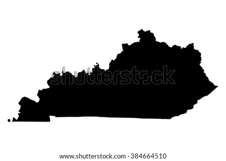 kentucky vector map isolated on white stock vector 192063659