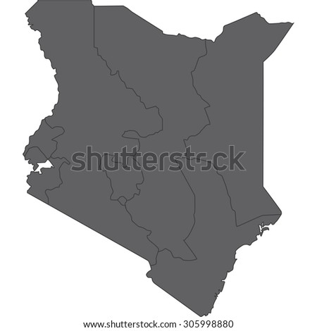 kenya - stock vector