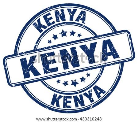 Kenya blue grunge round vintage rubber stamp.Kenya stamp.Kenya round stamp.Kenya grunge stamp.Kenya.Kenya vintage stamp. - stock vector