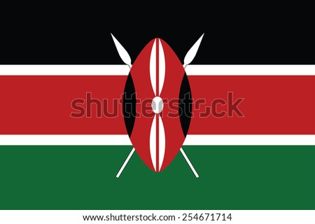 Kenya flag - stock vector