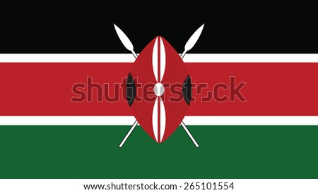 Kenya  Flag for Independence Day and infographic Vector illustration. - stock vector
