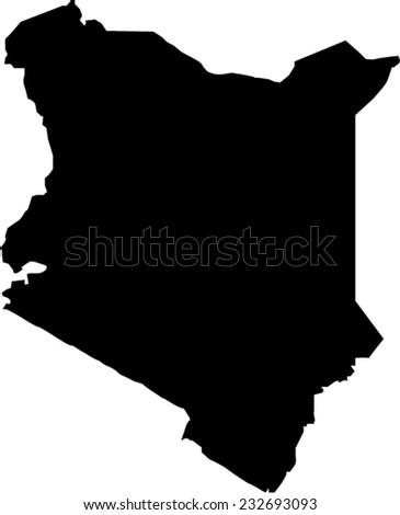 Kenya Vector Map