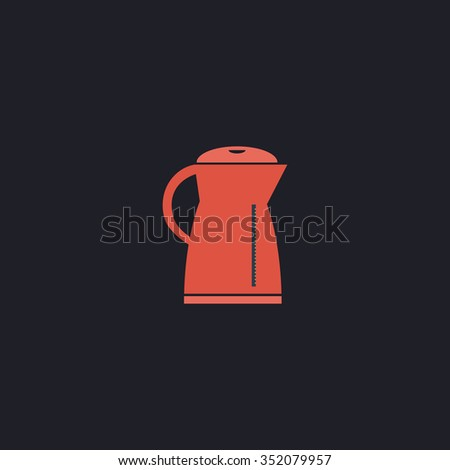 Kettle Color vector icon on dark background