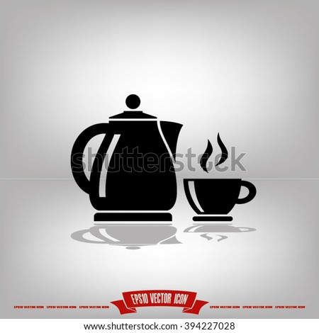 kettle cup icon, kettle cup icon eps10, kettle cup icon vector, kettle cup icon eps, kettle cup icon jpg, kettle cup icon picture, kettle cup icon flat, kettle cup icon web, kettle cup icon AI - stock vector
