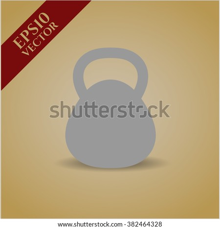 Kettlebell high quality icon