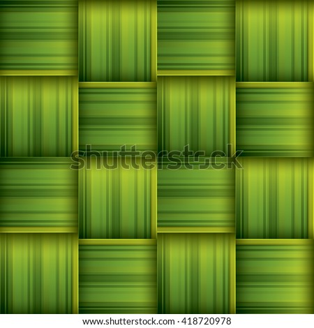 Ketupat (rice dumpling) texture. Woven palm leaf. Seamless background. - stock vector