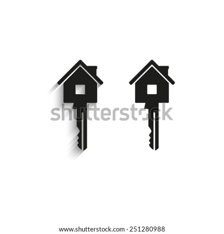 Key - black vector icons