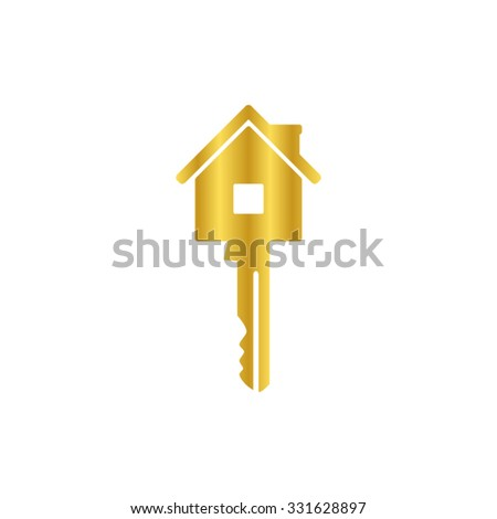 Key - gold vector icon