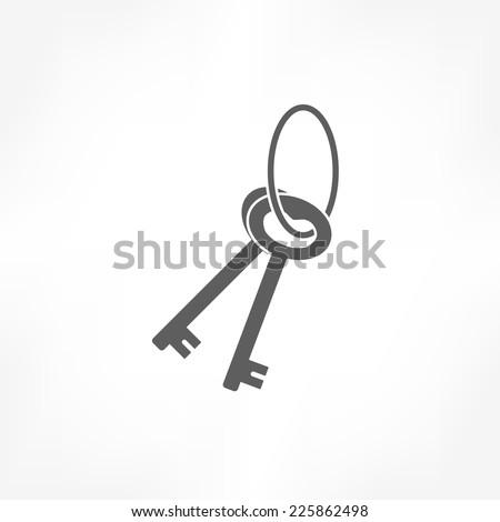 key icon  - stock vector