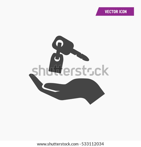 Key icon illustration isolated vector sign symbol.