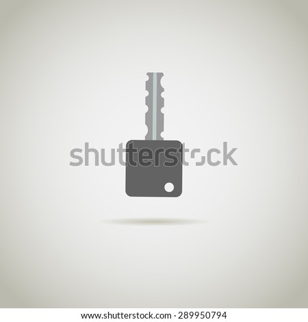 key icon on a gray background. Stock vector