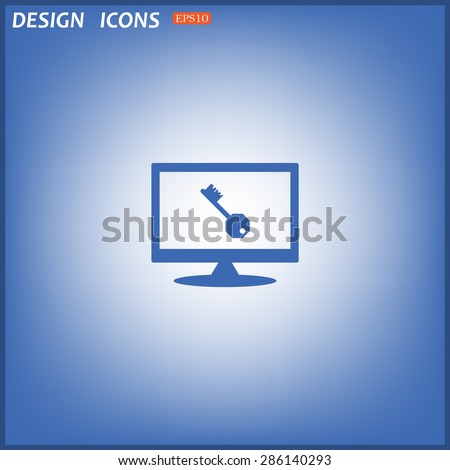 key. icon. vector design
