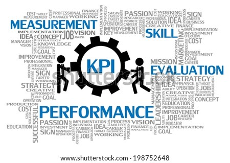 Key Performance Indicator or KPI, Business Concept - stock vector