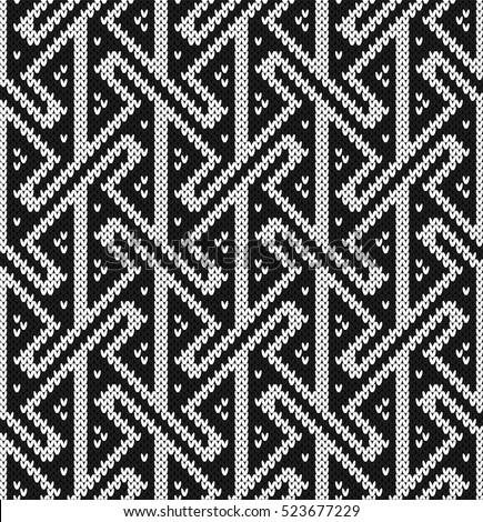 Key Seamless Knitting Pattern Stock Vector (Royalty Free) 523677229 ...