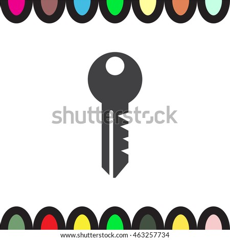 Key sign vector icon. Security sign vector icon. Password protect symbol. Safe symbol.
