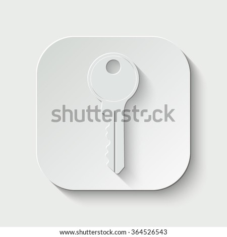 key vector icon - paper button