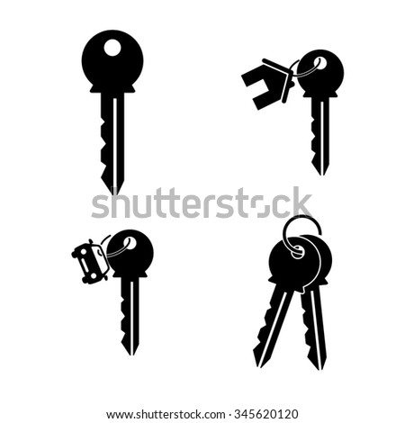 key - vector icon, set - home key, car key - stock vector