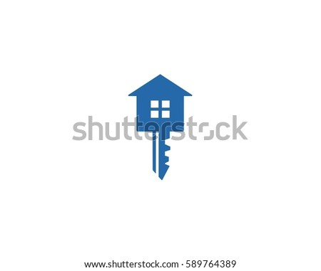 key with house house key iconlogo icon design template
