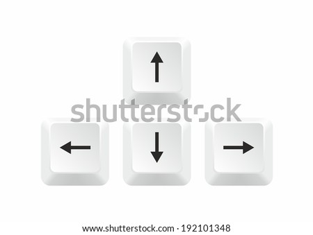 Keyboard Arrows isolated on white background. Vector illustration - stock vector