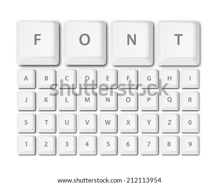 keyboard buttons font alphabet in vector format - stock vector