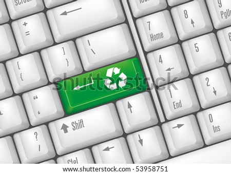 keyboard buttons - recycle