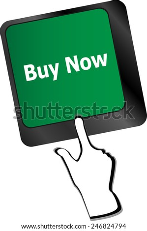 keyboard buy now icon - business concept - stock vector