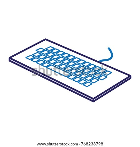 keyboard computer isometric icon