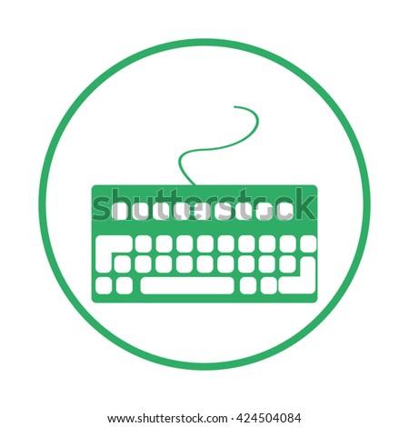 keyboard. computer keyboard. Input device - stock vector