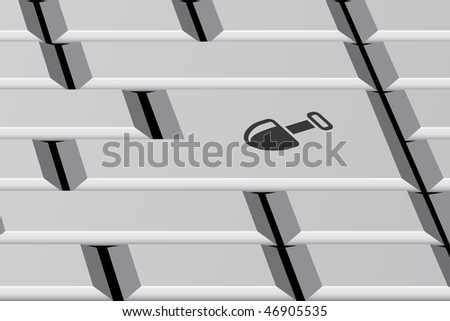 Keyboard concept, working on line - stock vector