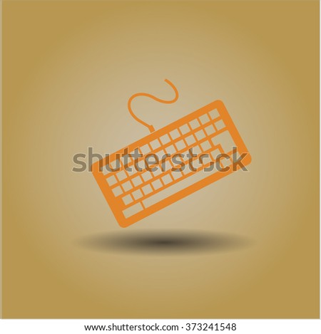 Keyboard high quality icon - stock vector