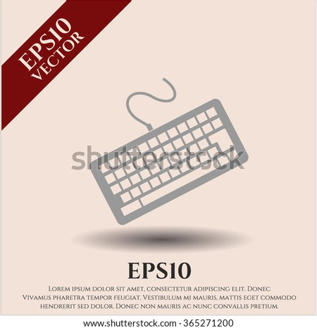 Keyboard icon - stock vector