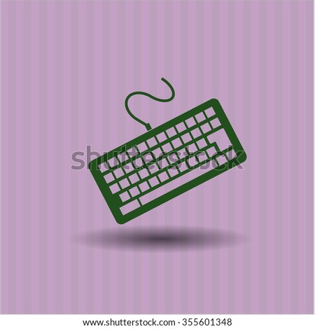 Keyboard icon or symbol - stock vector