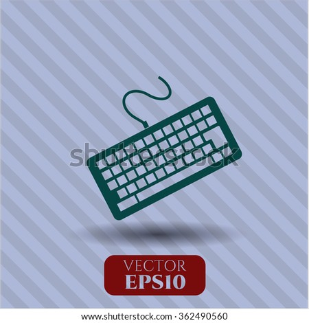 Keyboard icon vector illustration - stock vector