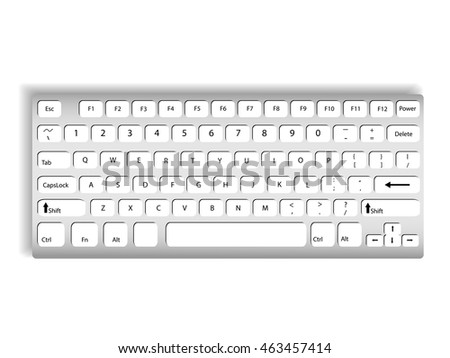 Keyboard On a white background illustrations vector.