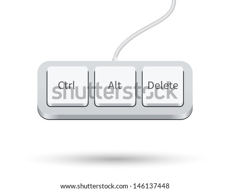 Keyboard Shortcut isolated on white background. Vector illustration. - stock vector