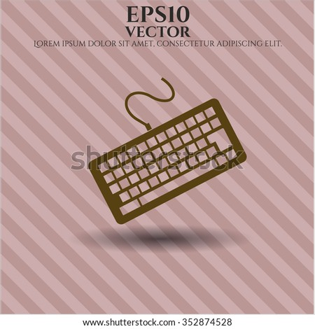 Keyboard symbol - stock vector