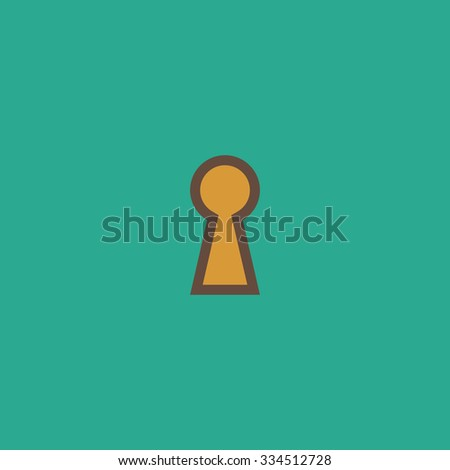 Keyhole. Colorful vector icon. Simple retro color modern illustration pictogram. Collection concept symbol for infographic project and logo - stock vector