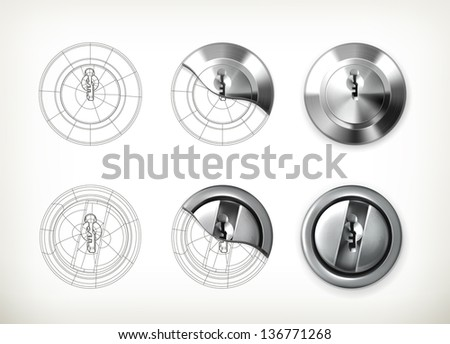 Keyhole drawing vector - stock vector