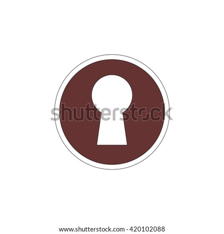 Keyhole flat icon. Vector illustration