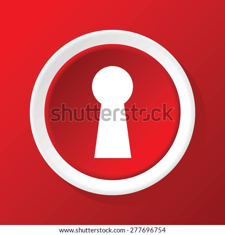 Keyhole icon - stock vector