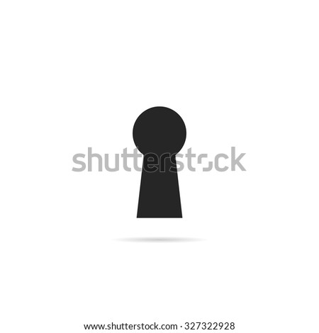 Keyhole icon. - stock vector