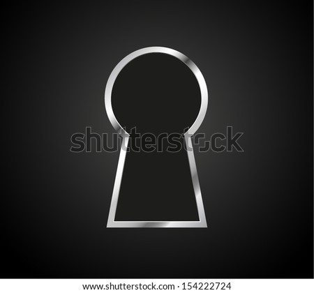 keyhole silhouette, vector illustration background