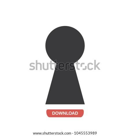 keyhole vector icon stock vector 2018 1045553989 shutterstock rh shutterstock com key in keyhole vector keyhole vector icon