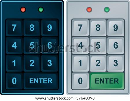 Keypad Entry (editable vector format) - stock vector
