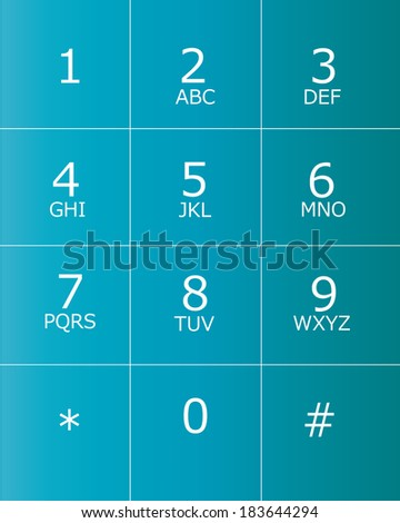 keypad for telephone - stock vector